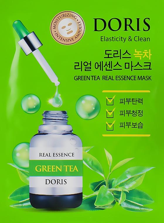 Ампульная маска для лица с экстрактом зеленого чая - Doris Green Tea Essence Mask