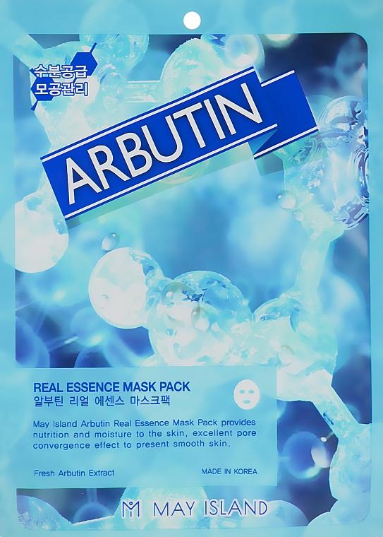 Тканевая маска с арбутином - May Island Real Essence Arbutin Mask Pack