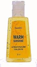 """Парфумерія, косметика Антибактеріальний гель для рук """"Warm Sunshine"""" - Saaniti """"Warm Sunshine"""" Gel"""