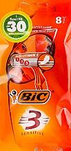 """Духи, Парфюмерия, косметика Мужской станок для бритья """"Sensitive 3"""", 8 шт. - Bic"""