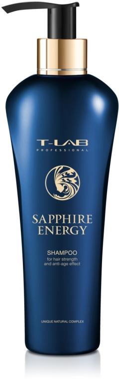 Шампунь для силы волос и эффекта анти-эйдж - T-LAB Professional Sapphire Energy Shampoo