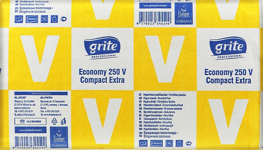 """Полотенца бумажные листовые """"Economy 250 V Compact Professional"""", 1 слой, 250 листов - Grite"""