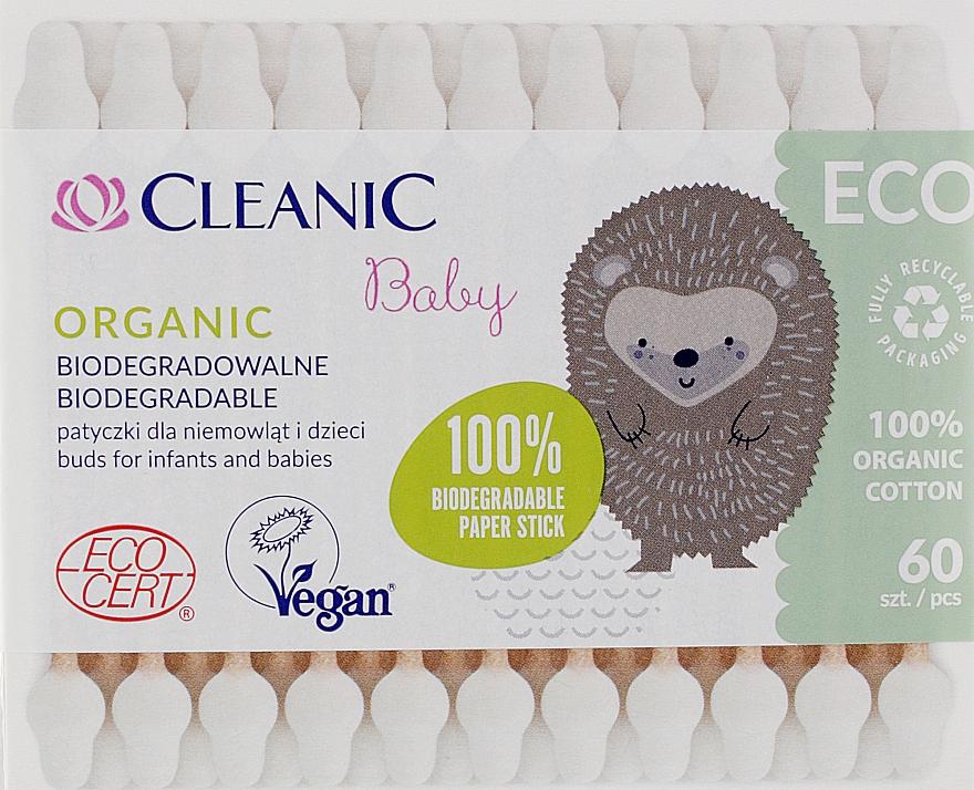 Ватные палочки для детей, 60 шт - Cleanic Baby Eco