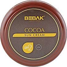 Духи, Парфюмерия, косметика Крем для безопасного загара с экстрактом какао - Bebak Laboratories Sun Care Cream Cocoa SPF2