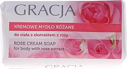 Мыло туалетное с экстрактом розы - Gracja Rose Cream Soap With Rose Extract — фото N2