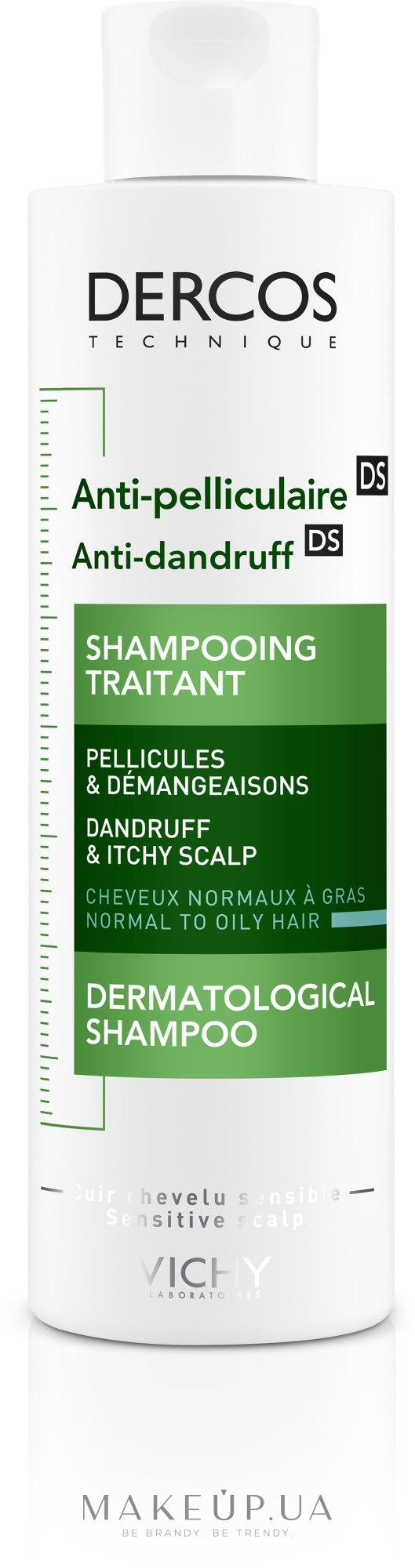 Шампунь против перхоти интенсивного действия для нормальных и жирных волос - Vichy Dercos Anti-Dandruff Advanced Action Shampoo — фото 200ml