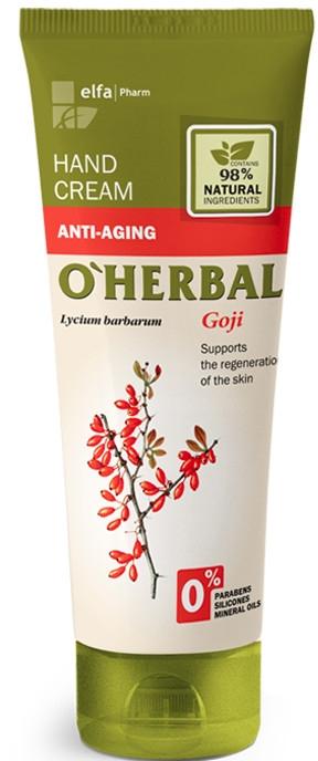 """Крем для рук """"Омолаживающий"""" с экстрактом годжи - O'Herbal Anti-aging Hand Cream"""
