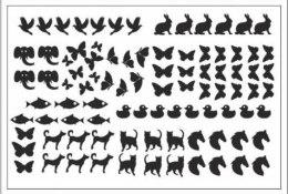 Духи, Парфюмерия, косметика Трафарет для ногтей D-02 - Adore Professional Deep Design D-02