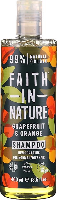 """Шампунь для нормальных и жирных волос """"Грейпфрут и апельсин"""" - Faith In Nature Grapefruit & Orange Shampoo"""