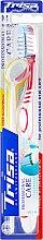 Духи, Парфюмерия, косметика Зубная щетка средней жесткости + зеркальце, красная - Trisa Professional Care Medium