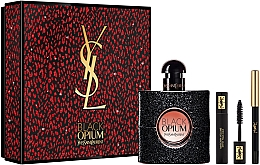 Духи, Парфюмерия, косметика Yves Saint Laurent Black Opium - Набор (edp/50ml + mascara/2ml + eye/pencil/0,2g)