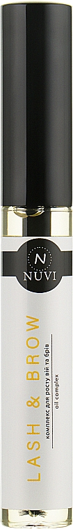 Масло-активатор роста для ресниц и бровей - Nuvi Lash&Brow Oil Complex