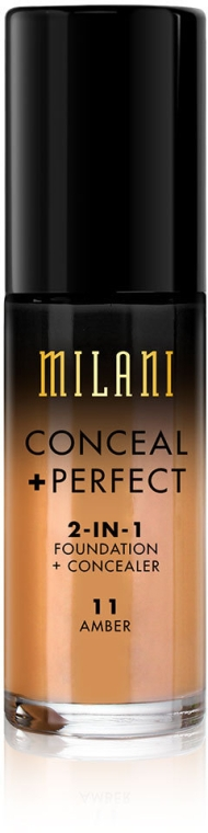 Тональный крем + корректор для лица - Milani Conceal Perfect 2-In-1 Foundation + Concealer