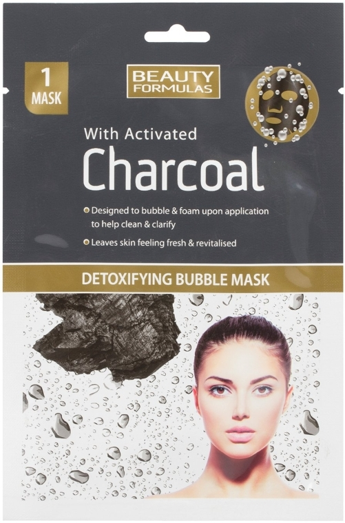 Маска для лица - Beauty Formulas With Activated Charcoal Detoxifying Bubble Mask