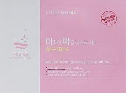 Духи, Парфюмерия, косметика Тканевая маска с AHA/BHA кислотами - Nature Republic Real Comforting Mask Sheet AHA/BHA