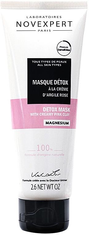 Маска детокс для лица с розовой глиной - Novexpert Magnesium Mask Detox With Creamy Pink Clay