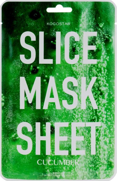 "Маска-слайс для лица ""Огурец"" - Kocostar Slice Mask Sheet Cucumber"