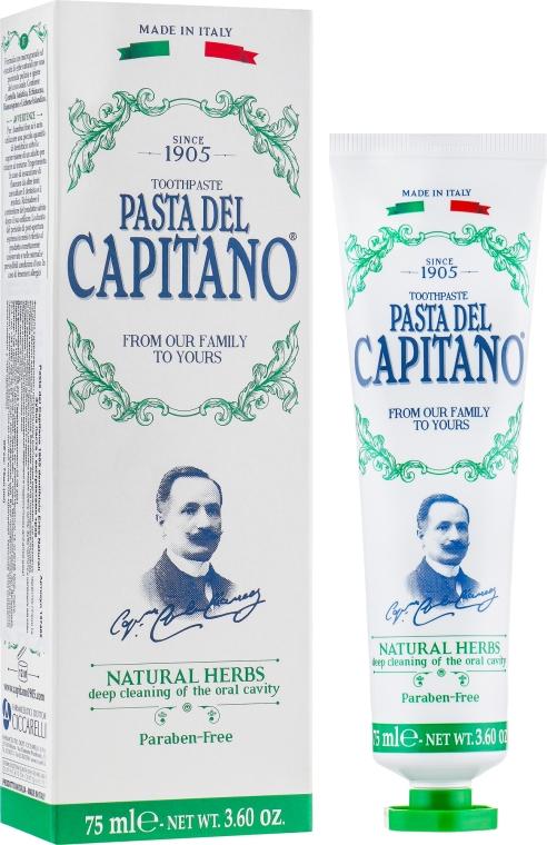 "Зубная паста ""Натуральные травы"" - Pasta Del Capitano 1905 Natural Herbs Toothpaste"
