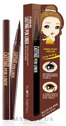 Карандаш-подводка для глаз - The Orchid Skin Lasting Brush Pen Liner — фото 02 - Dark Choco Brown