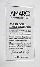 Духи, Парфюмерия, косметика Шампунь для ежедневного применения - FarmaVita Amaro All In One Daily Shampoo (пробник)