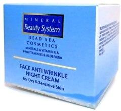 Ночной крем для лица от морщин для сухой и чувствительной кожи - Mineral Beauty System Face Anti Wrinkle Night cream — фото N4