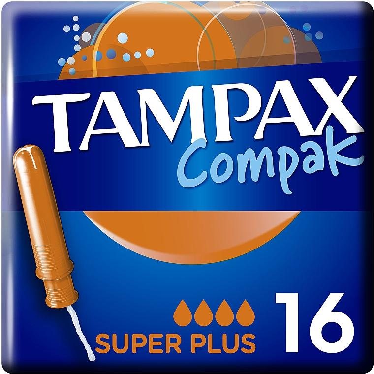 Тампоны с аппликатором, 16 шт - Tampax Compak Super Plus