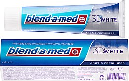 "Духи, Парфюмерия, косметика Зубная паста ""Арктическая свежесть"" - Blend-a-med 3D White Arctic Freshness"