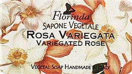 "Духи, Парфюмерия, косметика Мыло натуральное ""Пестрая роза"" - Florinda Sapone Vegetale Variegated Rose"