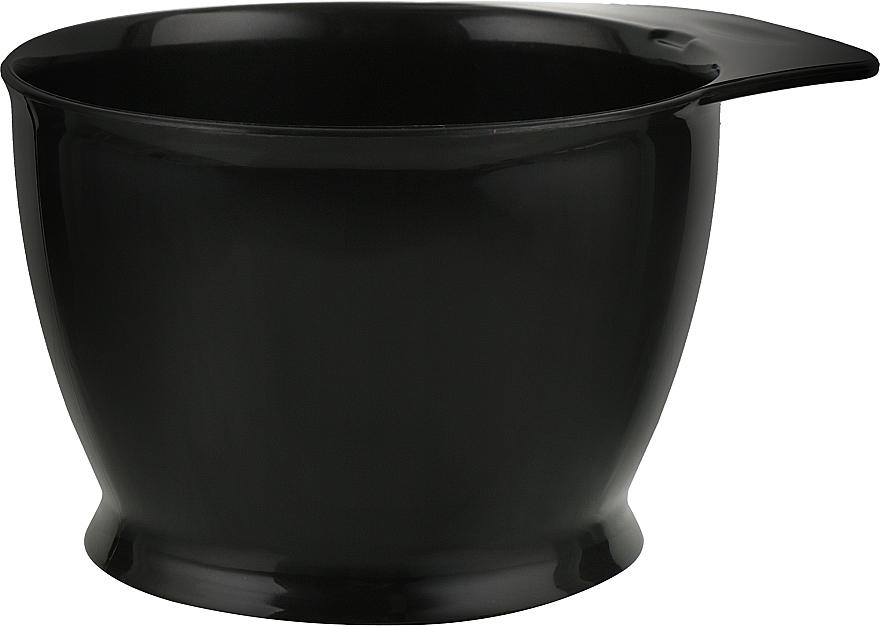 Миска для окрашивания волос с нескользящей основой, шкала до 320 мл, черная - Vero Professional