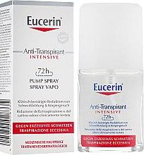 Духи, Парфюмерия, косметика Антиперспирант-спрей 72 часа защиты против чрезмерного потовыделения - Eucerin 72h Anti-Transpirant Intensive Pump Spray