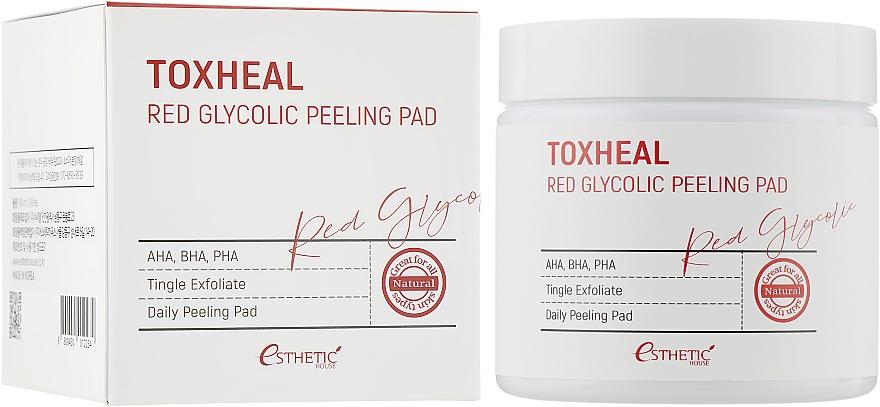 Очищающие диски - Esthetic House Toxheal Red Glycolic Peeling Pad