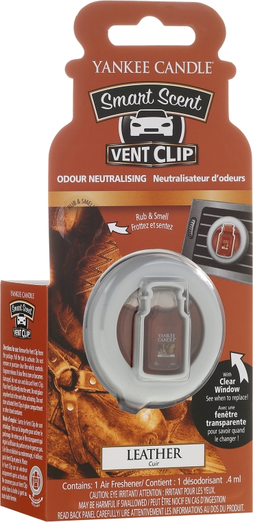 Жидкий ароматизатор для автомобиля - Yankee Candle Smart Scent Vent Clip Leather