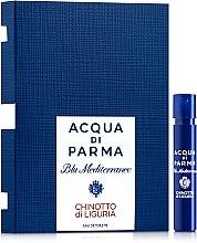 Духи, Парфюмерия, косметика Acqua di Parma Blu Mediterraneo Chinotto di Liguria - Туалетная вода (пробник)
