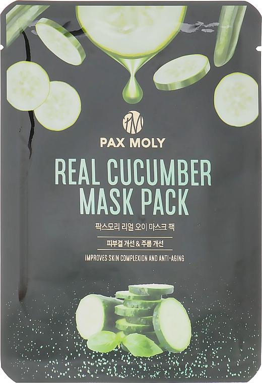 Маска тканевая с экстрактом огурца - Pax Moly Real Cucumber Mask Pack