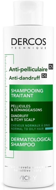 Шампунь против перхоти интенсивного действия для нормальных и жирных волос - Vichy Dercos Anti-Dandruff Advanced Action Shampoo