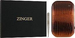 Духи, Парфюмерия, косметика Маникюрный набор MSFE-802-1 SM, лаковый, коричневый - Zinger