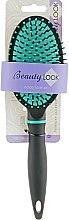 Духи, Парфюмерия, косметика Расческа для волос массажная, овальная, 414930, зеленая - Beauty Look