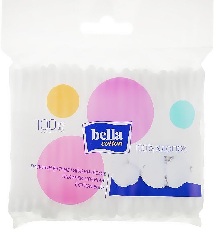 Ватные палочки в полиэтиленовой упаковке, 100шт - Bella