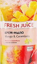 """Духи, Парфюмерия, косметика Крем-мыло с маслом камелии """"Манго и карамбола"""" - Fresh Juice Mango & Carambol (сменный блок)"""