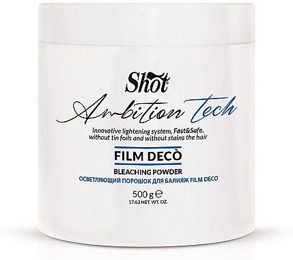 Осветляющий порошок для балаяжа - Shot Ambition Tech Film Deco Bleaching Powder