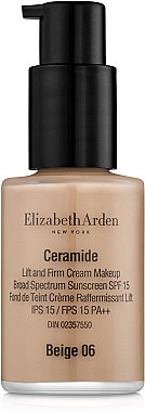 Тональный крем - Elizabeth Arden Ceramide Lift and Firm Cream Makeup SPF15 (тестер) — фото N1