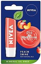 """Духи, Парфюмерия, косметика Бальзам для губ """"Персиковый блеск"""" - Nivea Lip Care Peach Shine Lip Balm"""