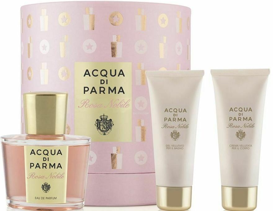 Acqua di Parma Rosa Nobile Set - Набор (edp/100ml + sh/g/75ml + b/cr/75ml)