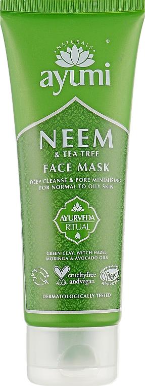 """Маска для лица """"Ним и чайное дерево"""" - Ayumi Neem & Tea Tree Face Mask"""