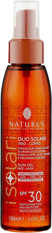 Солнцезащитное масло для лица и тела SPF 30 - Nature's I Solari Solar Oil Face & Body SPF 30