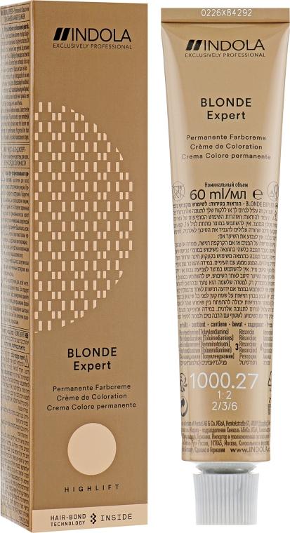Перманентная крем-краска - Indola Profession Blonde Expert Permanent Caring Color