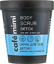 """Духи, Парфюмерия, косметика Скраб для тела """"Детокс. Морская соль и голубая глина"""" - Cafe Mimi Body Scrub Detox"""