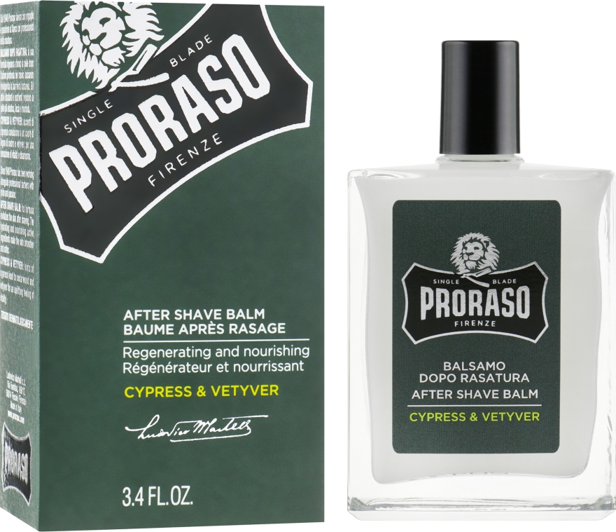 Бальзам после бритья - Proraso Cypress & Vetyver After Shave Balm