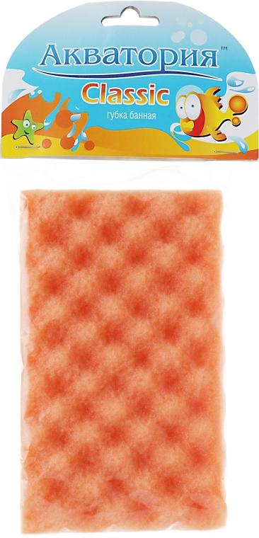 """Губка банная """"Classic"""", желто-оранжевая - Акватория"""