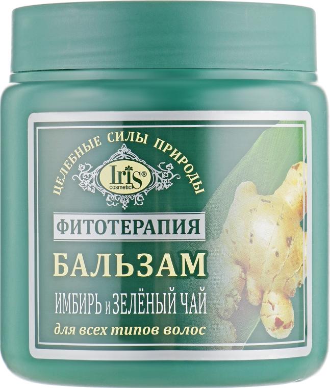 """Бальзам """"Имбирь и зеленый чай"""" для всех типов волос - Iris Cosmetic"""